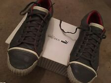 Men's Alexander McQueen Puma Uk 9 Boxed Scarred Street Trainers Low Grey RRP 150
