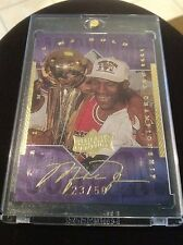 UPPER DECK ATHLETE OF CENTURY GOLD SIGNATURE MICHAEL JORDAN BULLS AUTO 23/50 1/1