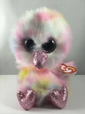 """2019 TY Beanie Boos 6"""" AVERY the Pastel Ostrich Plush Stuffed Animal Toy MWMTs"""