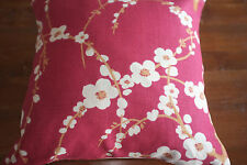 Laura Ashley Lori Cranberry fabric Cushion Cover 13in x 13in Square  New
