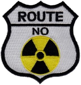 "25 Pcs ROUTE NO Radiation (W) Embroidered Patches 3""x3"""
