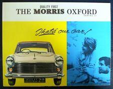 MORRIS OXFORD SERIES VI Car Sales Brochure 1963-64 #H&E 6369