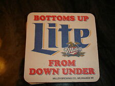 """Miller Lite Outback Steakhouse """"Bottoms up From Down Under"""" Coasters Set of 11"""