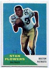 1960 Fleer STAN FLOWERS RC Boston Patriots Rare Error RICHIE LUCAS 96 Wrong Back