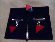 13 AA Regt RLC DZ flash TRF Chain Cufflink and long tie pin set,, Para Officer