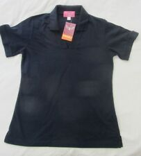 Trojan Work Wear Size 12 Navy Blue Polo Shirt Short Sleeve Ladies Womans