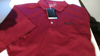 NWT! NIKE GOLF DRI FIT MENS POLO SHIRT SAGE RUTTY LOGO MAROON XL