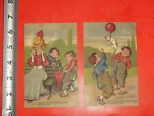 JA598 Vintage LOT of 2 PFB Postcards Bad Boys Twins Trickery Frog Cat Balloon