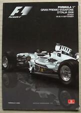 ITALIAN GRAND PRIX FORMULA ONE F1 2006 MONZA Official Programme