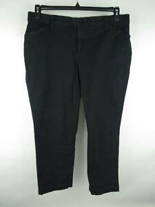 Lee Women's sz Plus 18W Solid Black Comfort Waistband Stretch Straight Jeans