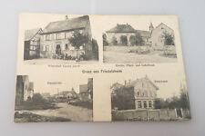 AK / PK - Gruss aus Friedolsheim - Wirtschaft Jacob - Kirche - Pensionat - etc.