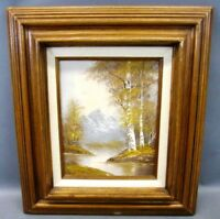 Mid Century landscape painting signed Wallace