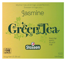 Jasmine Green Tea 100 Tea Bags Quality #1 - Stassen Pure - New!