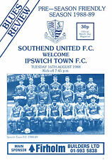 1988/89 Southend United v Ipswich Town, friendly, PERFECT CONDITION