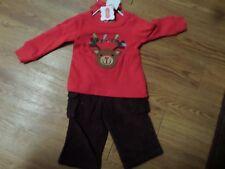 92f5dc24c0d8 Mud Pie Baby Reindeer 2 PC Set 131255 Christmas Santa s Workshop Collection  0-6 Months