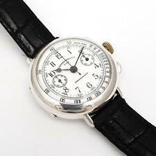EBERHARD & CO Chronograph Emaille-Zifferblatt 925er Sterling Silber - Ref. 31008