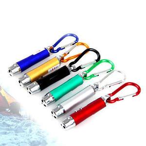 3in1 Aluminium LED Torch Laser UV Light Mini Pocket KeyRing Detection Pen