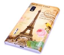 Hülle f LG Optimus L5 E610 Schutzhülle Tasche Case Cover Schale Paris Eiffelturm