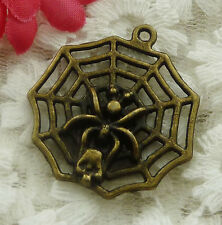 free ship 54 pieces bronze plated cobweb pendant 30x27mm #2015