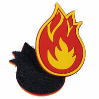 Monkey Fireball Flame PVC Patch 3D Tactical Badge Hook #24 Airsoft