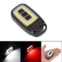 Mini USB COB LED Torch Light Key Chain EDC Light Rechargeable Flashlight