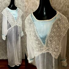 New listing Antique Edwardian White Cotton Organdy Lace Dress/Nightgown