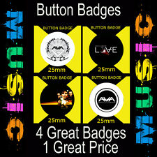 "ANGELS AND AIRWAVES- 4 GREAT BUTTON BADGES - 25mm -1"" CD4567"