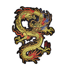 Applique Embroidery Dragon Patches for Clothing Coat Iron On Sewing On Sticker~