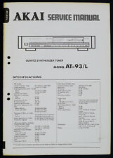 AKAI AT-93/L Original Quartz Tuner Service-Manual/Diagram/Parts List o170