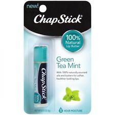 ☆NEW☆ ChapStick Green Tea Mint Moisturising Lip Balm 100% Natural Lip Balm 4 gm
