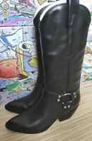 Jeffrey Campbell women's black cowboy boots size 37 (4UK) - leather