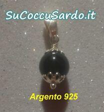 Ciondolo Su Coccu Gioiello Sardo Argento 925 Onice Sardegna PortaFortuna