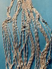 25 Stück 925 Silber Kette Leicht Gedreht  Ca 50-73 cm Lang  Silberkette