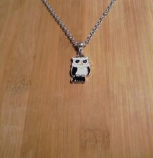 Owl Charm Silver Chain Necklace~20 Inch**~Free Ship
