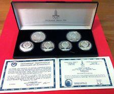 ESTUCHE   6 MONEDAS DE  PLATA  PURA CALIDAD  PROFF  OLIMPIADAS 1980 MOSCU