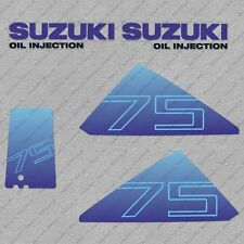 Suzuki DT75 75HP Two stroke Outboard Engine Decals Sticker Set reproduction
