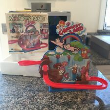 TPS PLASTIC & TIN BATTERY OPERATED MONKEY LAND W/BOX & FULLY WORKING T.P.S.
