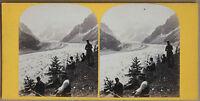 Chamonix Mar De Espejo Stereo Vintage Albúmina Aprox 1870