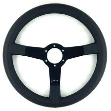 Genuine Momo Jacky Ickx signed edition 350mm leather steering wheel. Rare!    7B