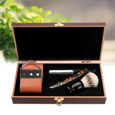 Classic Professional Men Manual Shaver Kit Straight Shaving Razor W/