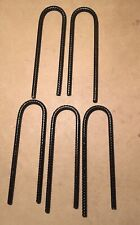 5 No X Black Heavy Duty tents/marquees /trampoline stakes/pegs 10mm Steel