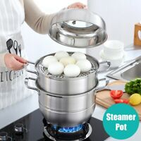 Home Kitchen Stainless Steel Thick Stock Pot Cookware Steamer Cooking Steamer
