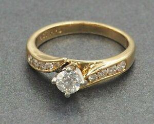 Diamond Womens Ring Engagement/Wedding Jewellery 18ct Yellow & White Gold