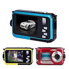 Full HD 2.7K Unterwasser Kamera 16X Digital Zoom Eingebauter Lautsprechers