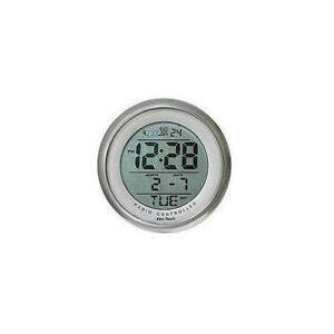 Exclusive Atomic Round Suction Cup Digital Clock (Metallic Silver)