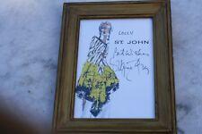 Serigraph Print St. John Fashion Model Signed, Framed Says Lolly St.John Signed