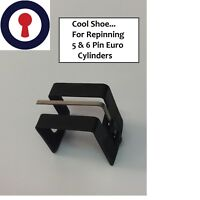 locksmith Tool For 5&6 Pin Euro Cylinder pinning shoe on stand 1st P&P