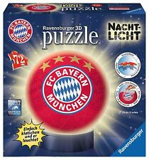 Ravensburger 12177 - Luce notturna FC Bayern Munich,3d-puzzle-ball,NUOVO / conf.