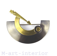 FRECCIA SPILLA anodizzati Avant-Garde Brass ARROW brooch France 60s 70s VINTAGE
