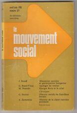 Revue Le Mouvement social  N° 115 avril-juin 1981   Lorraine Pologne